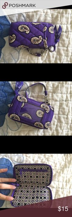 Vera Bradley Wallet Holds small phones and can has wrist strap. Vera Bradley Bags Wallets