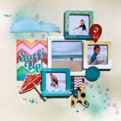 Inspired Blueprints is back with this fun, four photo sketch.just perfect for including lots of photos, and still retaining some white sp. Baby Journal, Photo Sketch, Scrapbook Pages, Learning, Holiday, Fun, Inspiration, Inspired, Waterfall