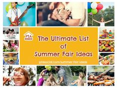 We share a whole stack of brilliant school PTA summer fair fundraising ideas, stalls, games, food, family fun! Take a look now...!