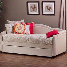 Hillsdale Jasmine Stone Linen Upholstered Daybed - Overstock.com