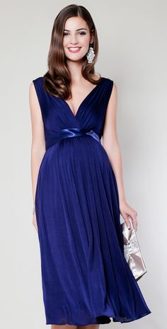 Another cute site for maternity clothes - Anastasia Maternity Dress Short (Eclipse Blue) by Tiffany Rose