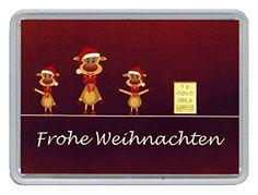"""Geschenk-Idee zu Weihnachten - 1g Goldbarren 999,9 Feingold in Motivbox """"Frohe Weihnachten"""" in edler Goldverpackung"""