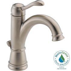 Delta Porter 4 in. Centerset Single-Handle High Arc Bathroom Faucet in Brushed Nickel