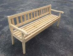 Ławka drewniana ogrodowa - buk 120cm