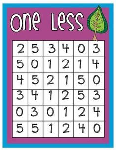 ONE LESS BINGO - TeachersPayTeachers.com. Could adapt for multiplication and have kids help make their own cards.