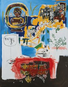 Jean-Michel Basquiat, Campaign, 1984. Sold Sotheby's London for 4,405,000 British Pounds on 11 February, 2015.