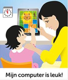 Laaggeletterde ouders hebben dezelfde twijfels en angsten als alle andere ouders over het computergebruik van hun kinderen. Het boekje 'Mijn computer is leuk' kan daarbij helpen.