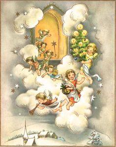 VIntage Crestwick Angel Christmas Card