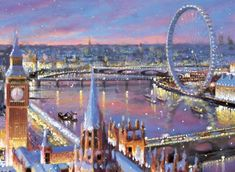 A View Over London Personalised Charity Christmas cards with London images. Printed in the UK Corporate Christmas Cards, Charity Christmas Cards, Personalised Christmas Cards, Xmas Cards, Christmas Scenery, Christmas Lanterns, Christmas Angels, Christmas Wishes, London Christmas