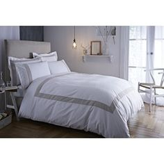 Bianca Cotton Soft Tailored Neutral Duvet Cover Set - Single Bed Covers, Duvet Cover Sets, Bedroom, Cotton, Furniture, Home Decor, Bed Quilts, Decoration Home