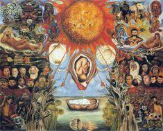 Questo meraviglioso dipinto fu realizzato da Frida Kahlo nel 1945 su commissione di uno dei suoi mecenati, José Domingo Lavin. L'opera si intitola Mosè o N