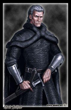 Qhorin - Também conhecido como Meia-Mão, é um patrulheiro da Patrulha da Noite e segundo no comando da Torre Sombria. Ele é considerado um dos melhores na Patrulha. Ele é chamado de Meia-Mão, pois perdeu os dedos da mão direita devido a um golpe de machado, exceto o polegar e o indicador, com isto teve de aprender a manejar a espada com a mão esquerda e tornou-se melhor do que quando usava a direita.