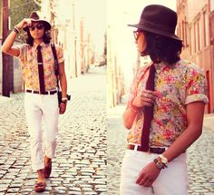 yes to patterned floral shirts this spring