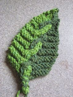 cable knit leaf