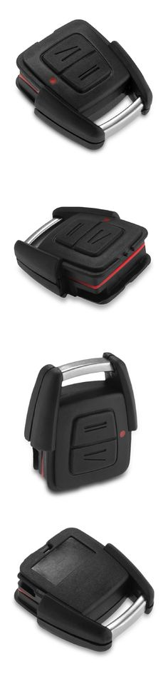 CAR-partment hot sale 2 buttons Black Replacement Keyless Entry Remote ABS Key Fob Shell Case for Opel Astra Mk4 Vectra B