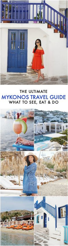 Greece Travel Inspiration - The Ultimate Travel Guide to Mykonos, Greece (What to See, Eat & Do) Europe Travel Tips, New Travel, Ultimate Travel, Future Travel, European Travel, Places To Travel, Budget Travel, Travel Tours, Vacation Places