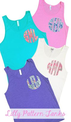 What Preppy Girl Doesn't Love Lilly Pulitzer AND Her Monogram? These Lilly Pattern Monogram Tank Tops are ON SALE for only $24- Thats 35% Off! Do not miss this FLASH SALE! Deal ENDS Monday Night. FREE Koozie with Every Order.