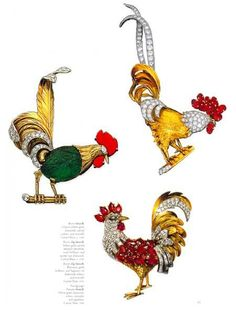 Amazing-Cartier Jewellery Book #Animals# Rooster Brooch
