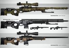 L96A9 Rifle & FN Five Pistol, Su Wang on ArtStation at https://www.artstation.com/artwork/nP1Gr