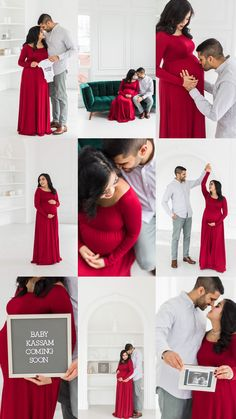 Sherini + Aly's Maternity Session Maternity Photo Outfits, Maternity Dresses For Photoshoot, Maternity Poses, Maternity Pictures, Studio Maternity Photos, Indoor Maternity Photography, Baby Shower Photography, Couple Pregnancy Photoshoot, Newborn Schedule