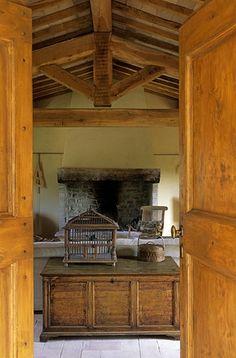 living room in chianti villa