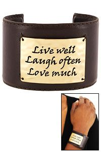 Live Laugh Love Leather Cuff at $14.95 hopefaithlove.greatergood.com (Your purchase provides 25 cups of food via these great charities: Feeding America, Mercy Corps, and Millennium Promise.) AWESOME!!