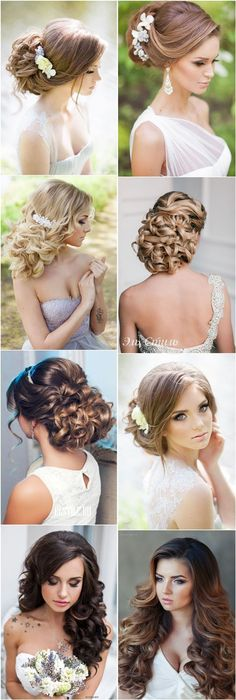 Long Wedding Hairstyles & Bridal Updos Hairstyle / http://www.deerpearlflowers.com/26-perfect-wedding-hairstyles-with-glam/