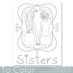friends holding hands coloring pages - photo#20