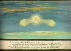 """Augsburger Wunderzeichenbuch — Folio 26? """"Drei Sonnen"""".jpg"""
