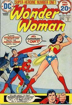 Wonder Woman #212 - Cover by Bob Oksner (1974)