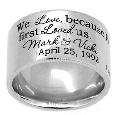 generousgems - Sterling Silver Wedding Story 12mm Wide Band Engraved Personalized Ring (http://generous-gems.com/sterling-silver-wedding-story-12mm-wide-band-engraved-personalized-ring-fir-w/) #wedding #weddingring #personalized #personalizedring #generousgems @generousgems #pipering #engrave #anniversary #love #ring