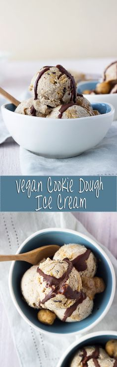 The best home-made vegan cookie dough ice cream, and you don't even need an ice cream maker!
