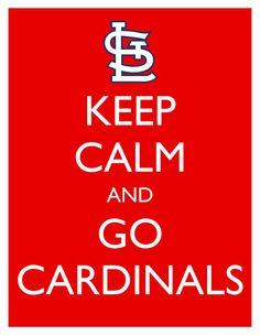 Keep Calm and Go Cardinals  8x10 Picture  Wall by HeSewMadeThat, $7.90