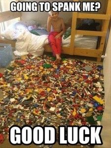 funny kids and legos messy room