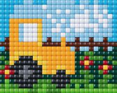 Tractor cross stitch. Farm cross stitch. Vehicle cross stitch.