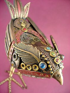 """Gale the Mechanical Birdie Reminds me of Jeannie Lin's story in ONCE UPON A FAIRY TALE - a Japanese Steampunk take on """"The Emperor and the Nightingale."""""""