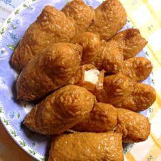 ひとつご飯が見えてるのは… ご愛嬌ってことで(´ω`;) - 0件のもぐもぐ - いなり寿司(ノーマルご飯) by platre