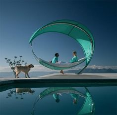 """Created by Belgian company Royal Botania, """"The Wave"""" is a luxury hammock that's designed to smash all our preconceived ideas about what a hammock should look like."""