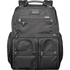 Tumi Alpha Compact Laptop Brief Pack - Alpha Black - via eBags.com!