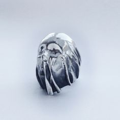 Solid Sterling Silver Shroud Ring