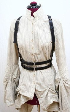 Nora James Leather Double Strap Harness Belt by AudraJean on Etsy, $169.00