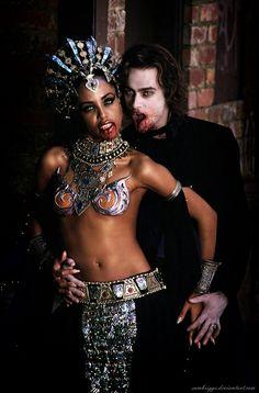 Akasha And Lestat by SamBriggs.deviantart.com on @deviantART #Vampire #King #Queen