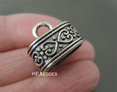 Hey, I found this really awesome Etsy listing at https://www.etsy.com/listing/218739259/4pcs-silver-end-caps-12mm-x-7mm-findings