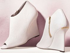 Burberry Natural White Ankle Boots