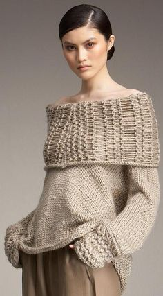 Donna Karan knit and crochet Fashion Moda, Knit Fashion, Donna Karan, Free Crochet, Knit Crochet, Barbie Mode, Cozy Sweaters, Model Photos, Pulls