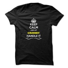 Keep Calm and Let GRIMSBY Handle it - #student gift #gift packaging. LIMITED AVAILABILITY => https://www.sunfrog.com/LifeStyle/Keep-Calm-and-Let-GRIMSBY-Handle-it.html?68278