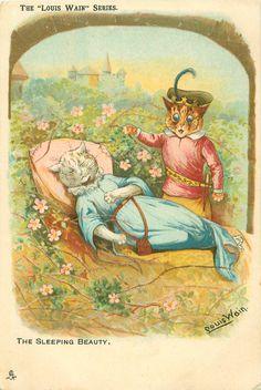 THE SLEEPING BEAUTY, by Louis Wain