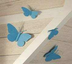 Turquoise Tin Butterflies #PotteryBarnKids Cute if I stick with butterflies in Talias room...
