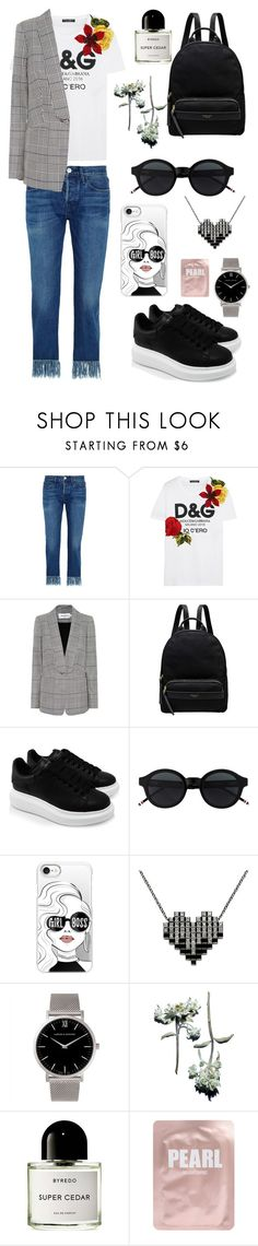 """Untitled #170"" by natashaftr on Polyvore featuring 3x1, Dolce&Gabbana, self-portrait, Radley, Alexander McQueen, Casetify, Larsson & Jennings and Lapcos"