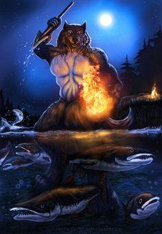 Night Fishing by AnsticeWolf.deviantart.com on @DeviantArt